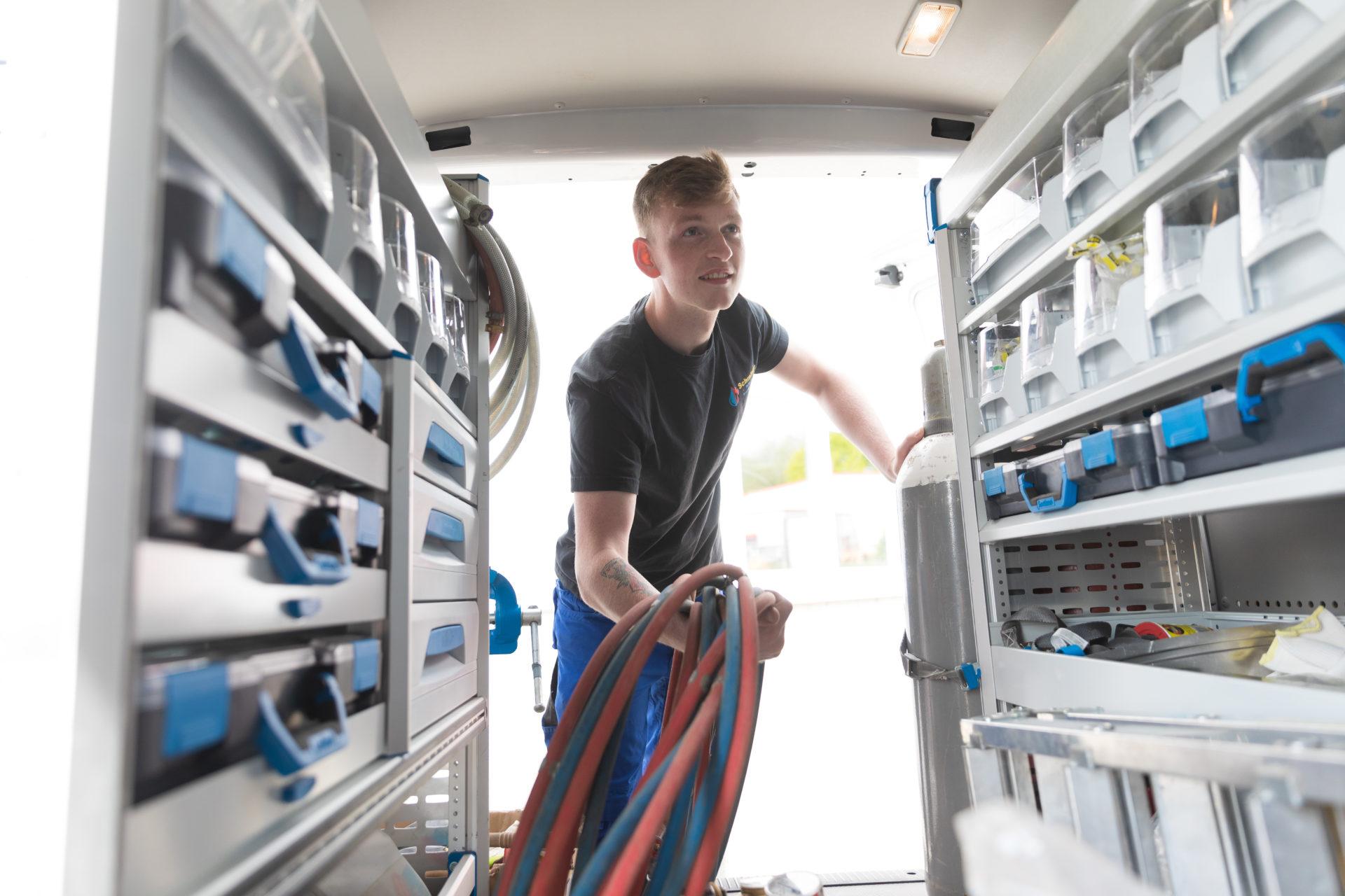Schoenfeld Schmitter Sanitaer Heizung Monteur Klimatechnik Leistung Notdienst